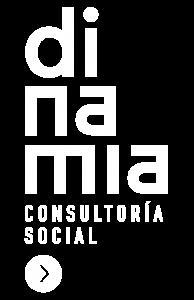 Dinamia Consultoría Social - logotipo blanco fondo transparente