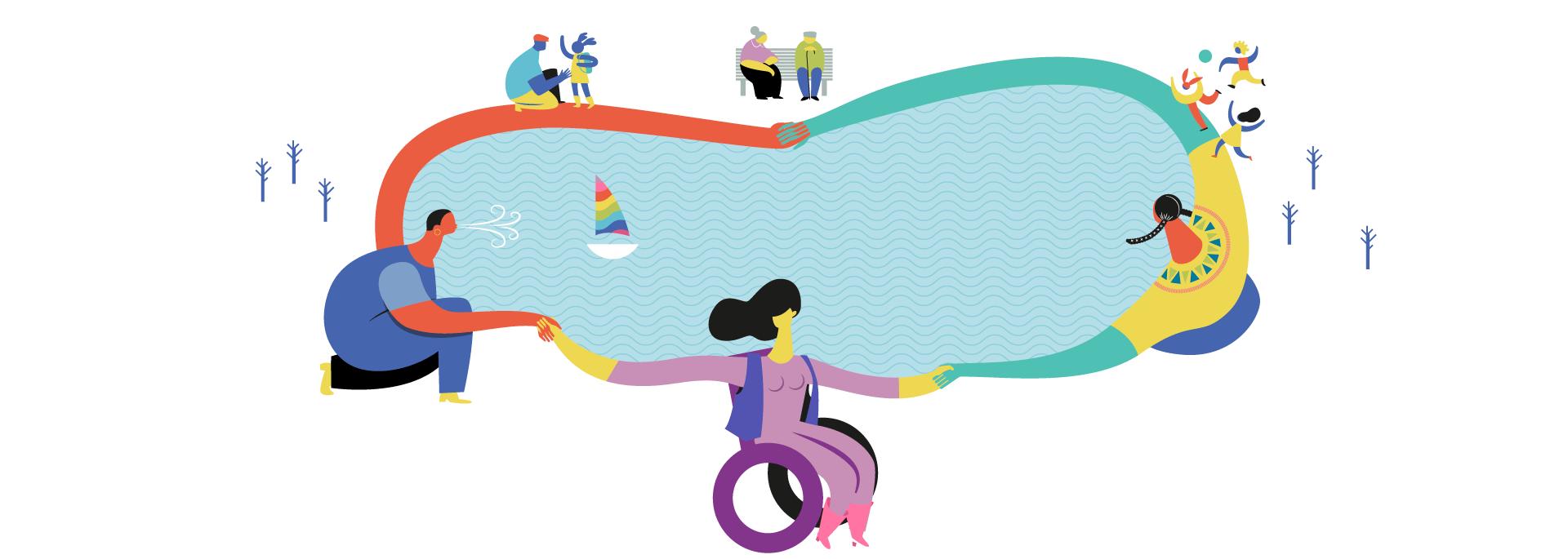 Imagen representativa del Área de género y diversidad de Dinamia Consultoría Social